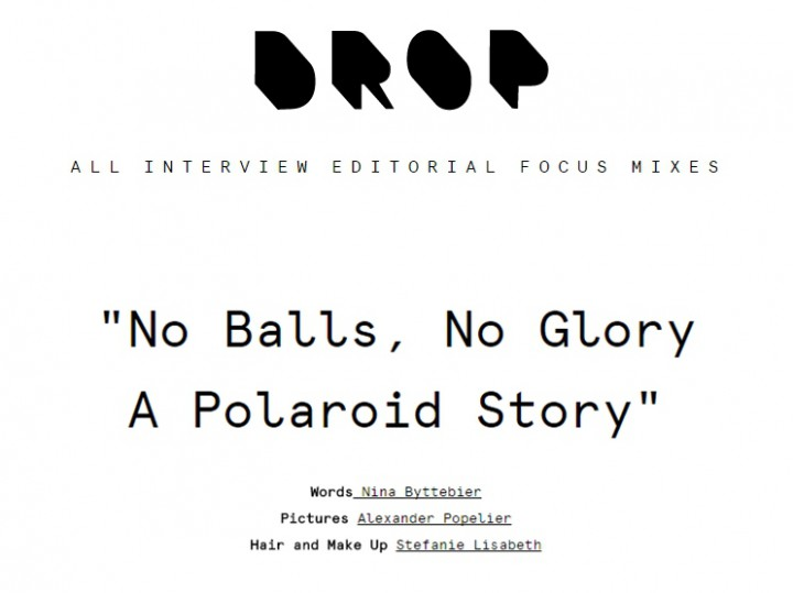 A POLAROID STORY x DROP MAGAZINE